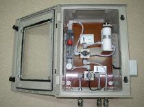 Der Spurenfeuchteanalysator kann auch in aggressiver Umgebung wie z.B. in Chlor eingesetzt werden